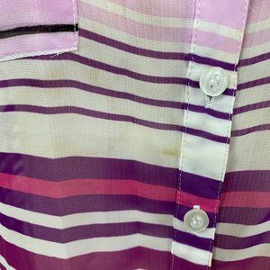 New York & Company Tops - Purple striped blouse